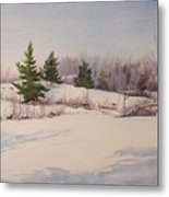 Shadows On Snow In The Canadian Shield  Metal Print