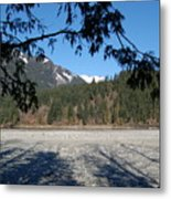 Shadows On The Coquihalla River  Metal Print