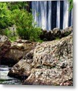 Shady Lake Falls Metal Print by Lana Trussell