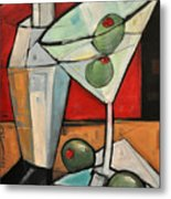 Shaken Not Stirred Metal Print
