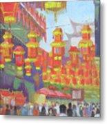 Shanghi Lanterns II Metal Print