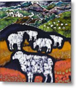 Sheep At Midnight Metal Print