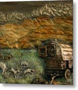 Sheep Herder's Wagon From Snowy Range Life Metal Print