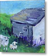 Sheep In Scotland  Metal Print