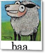 Sheep Poster Metal Print