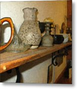 Shelf With Things Treasured Metal Print