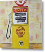 Shell Gas Pump Metal Print