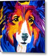 Sheltie - Missy Metal Print by Alicia VanNoy Call