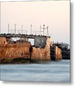 Ship At Seecliff Metal Print