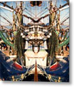Shrimp Boat Abstract Metal Print