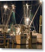 Shrimpboats And Night Metal Print