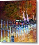 Shrimpboats Metal Print