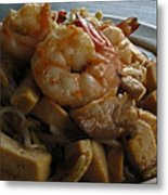 Shrimps With Tofu Metal Print