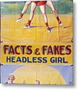 Sideshow Poster, C1975 Metal Print
