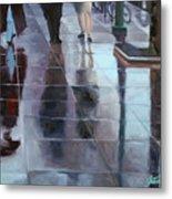 Sidewalk Reflections Metal Print