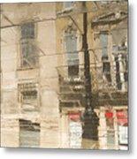 Sidewalk Reflections II Metal Print