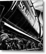 Sideways Train Metal Print