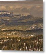 Sierra Nevada Winter Vista Metal Print