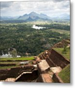 Sigiriya Ruins Metal Print by Jane Rix