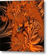 Silk In Orange Metal Print