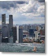Singapore Swimmer Metal Print by Nina Papiorek