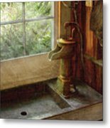 Sink - Water Pump Metal Print