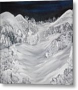 Ski Slope Metal Print