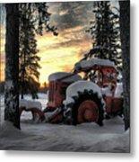 Skidder Sunrise Metal Print by Heather  Rivet