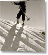 Skier Metal Print