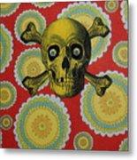 Skull And Cross2 Metal Print