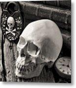 Skull And Skeleton Key Metal Print