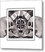 Skull Mandala Series Nr 1 Metal Print by Deadcharming Art
