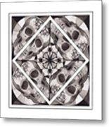 Skull Mandala Series Number Two Metal Print by Deadcharming Art