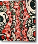 Skulls Infinate Metal Print