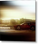 Skyline Speed Metal Print
