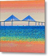 Skyway Morning Metal Print