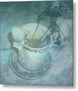 Skyworks 3 Rose Metal Print
