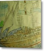 Slave Ship Metal Print