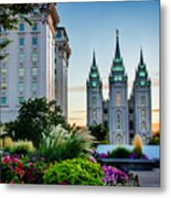 Slc Temple Js Building Metal Print