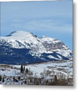 Sleeping Indian Mountain Metal Print