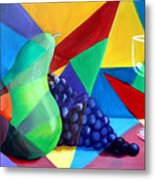 Sliced Fruit Metal Print