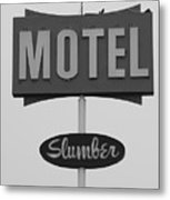 Slumber Motel Merced Ca Metal Print by Troy Montemayor