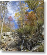 Small Fall Waterfall Metal Print
