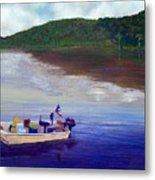 Small Fishing Boat Metal Print by Tony Rodriguez