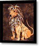 Small Lion Metal Print by Thomas Thomas