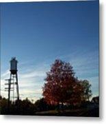 Small Town Autumn Metal Print