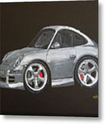 Smart Porsche Metal Print
