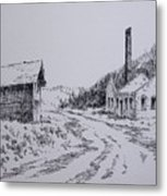 Smelter Ruins Glendale Ghost Town Montana Metal Print