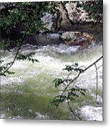 Smokey River Run Metal Print