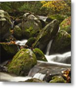 Smokies Waterfall Metal Print by Andrew Soundarajan